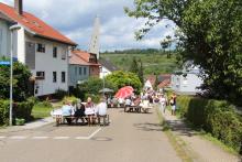 Bild von der Kirchenstraße, Teil Richtung katholische Kirche