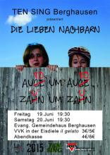 Plakat TEN SING Konzert 2015 in Berghausen